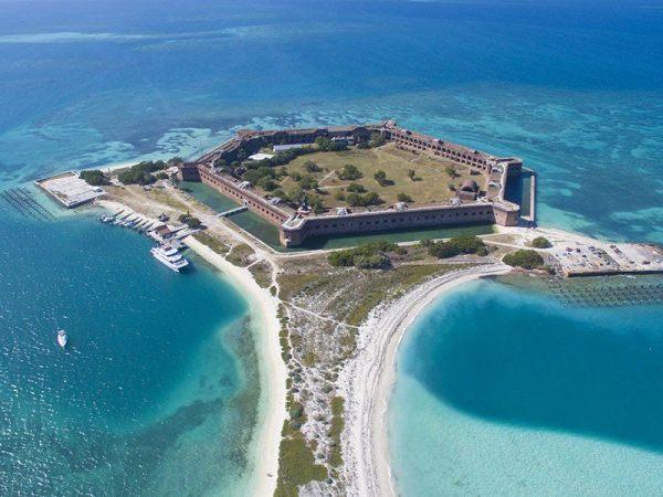 Aerial view of Dry Tortuga