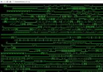 3.6 Grafické rozhraní webu JODI.