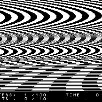 4.36 JODI, Untitled game, mód ctrl-space.