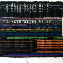 4.81 Melissa Barron - 8bitglitch, utkaná textilie