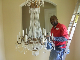 Chandelier Light Fixture Cleaning