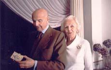 Gustavo Rol con la moglie
