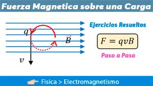 Fuerza Magnética Sobre Una Carga