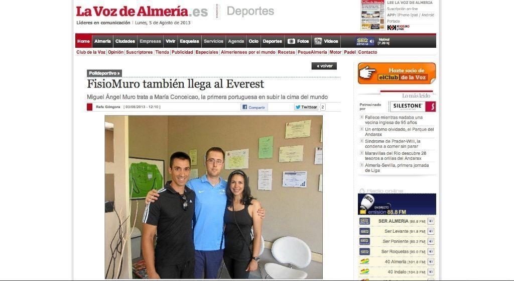 María y su entrenador Ismael