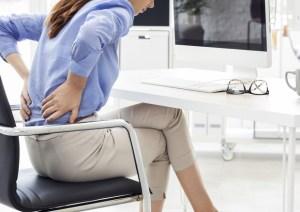 Posizione seduta in ufficio