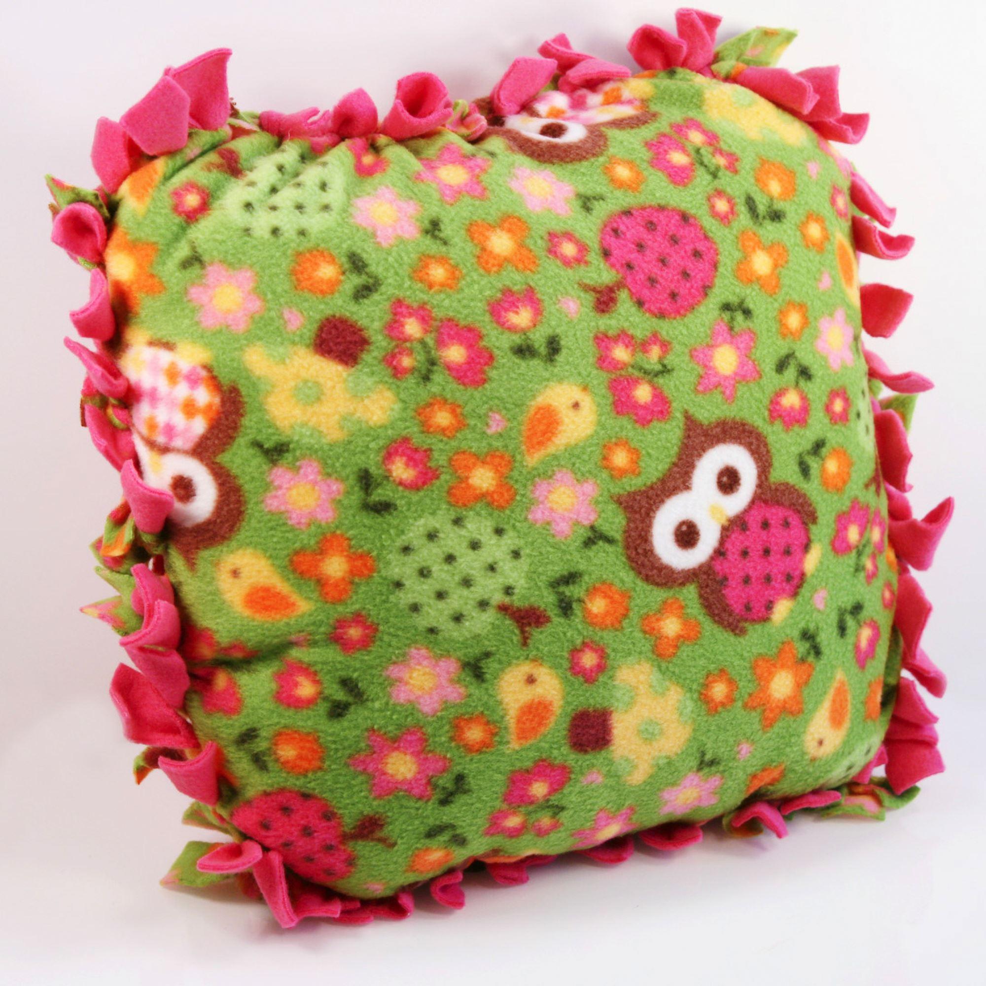 kids no sew fleece pillow