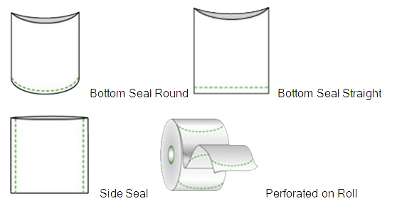 Available formats for shrink bags
