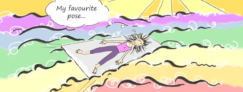 Savasana favorite pose yoga cartoon Fissos World
