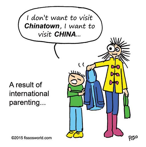 International parenting expat life kids cartoon Fissos World