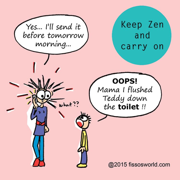 Keep Zen Carry On Cartoon Kids Fissos World