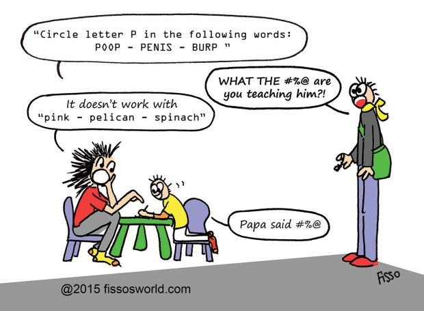 Teach child Read Cartoon Poop Fissos World