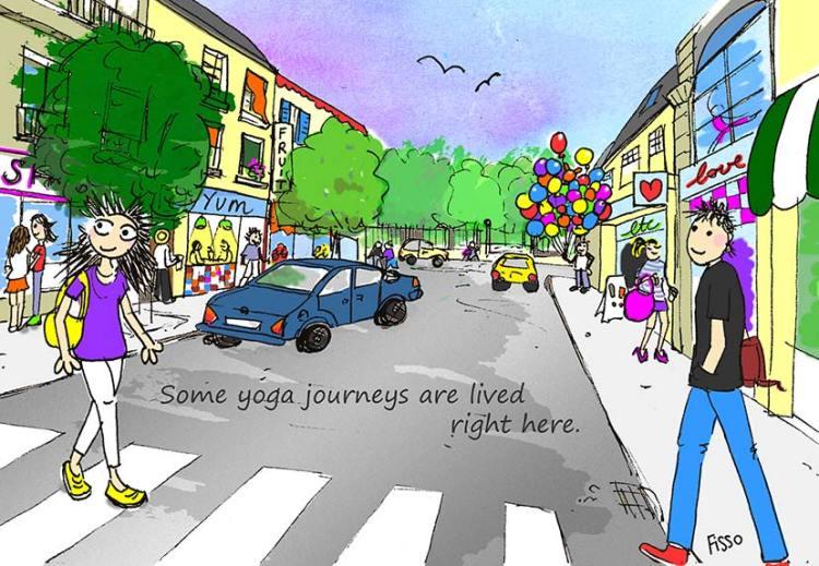OM my Yoga Cartoon Story Fissos World On Yoga Journey 33