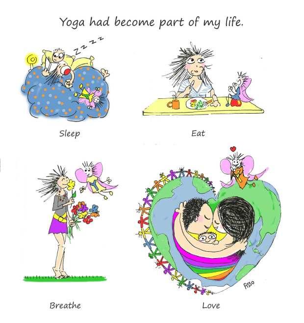 OM my Yoga Cartoon Story Fissos World On Yoga Journey 24