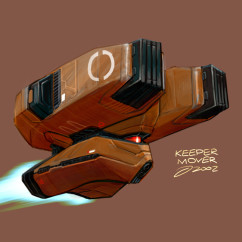 Homeworld 2 Concept Art - Rob Cunningham - Keeper Mover Concept