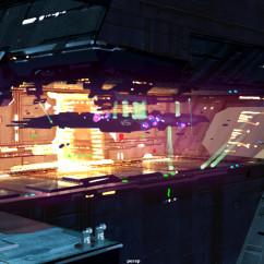 Homeworld 2Concept Art - Rob Cunningham - Shipyard
