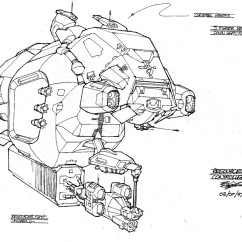 Homeworld Concept Art - Rob Cunningham - Resource Controller Concept