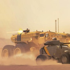 Baserunner and Light Attack Vehicle - Deserts of Kharak - Concept Art