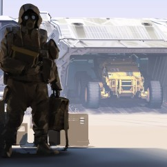 Dropship - Deserts of Kharak - Concept Art