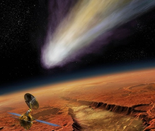 colonizing mars meteor shower