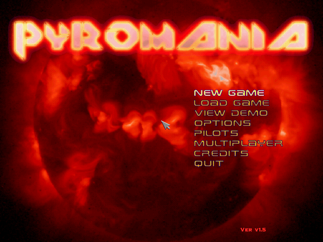 Pyromania Main Menu