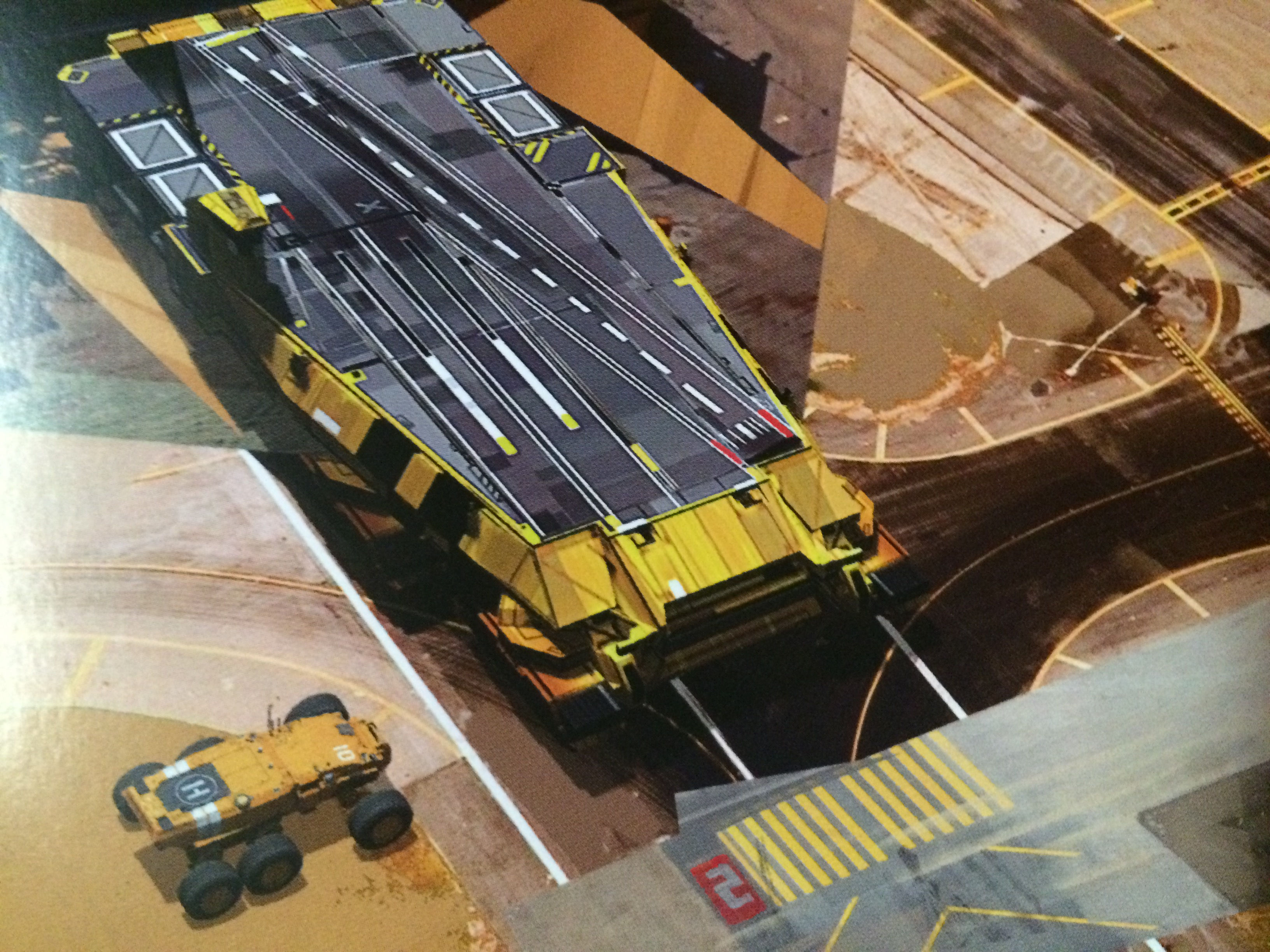 Homeworld Deserts of Kharak Collector's Edition Concept Art - Baserunner and Coalition Carrier