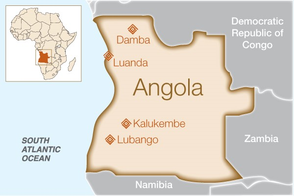 Image result for angola map 600x400