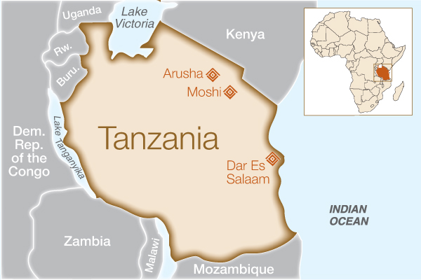 Fistula Foundation: Tanzania - Map