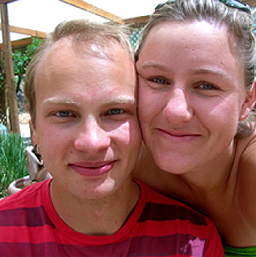 Alexandra Lockett and Paul Hauser
