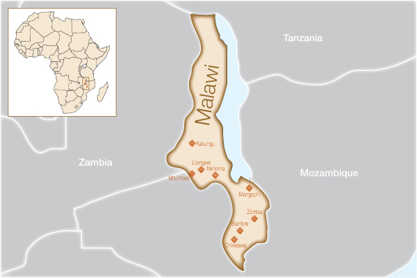 Malawi Where We Help Fistula Foundation - Where is malawi