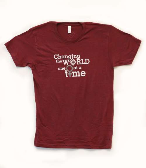 One Woman at a Time - Cranberry-min