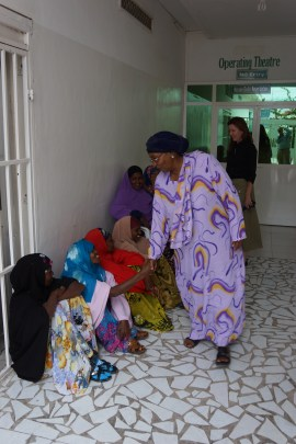 Edna Adan visits with fistula patients at her hospital in Somaliland