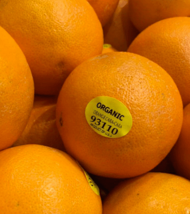 Organic - Label starting with #9