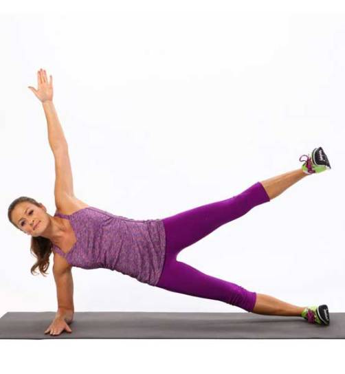 single leg arm side plank