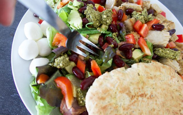 gezonde vegetarische kipsalade