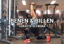 benen en billen trainen in de sportschool