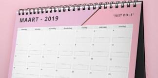 motivatie kalender maart