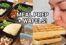 meal prep vlog wafels