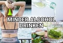 minder alcohol afvallen