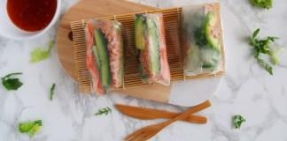spring rolls met tonijn