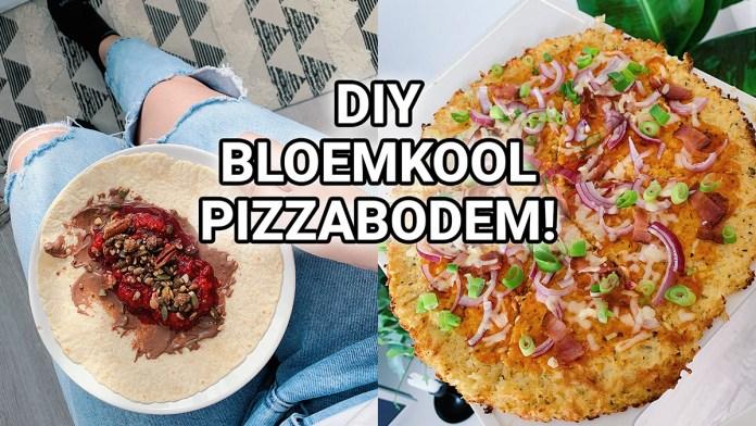 bloemkool pizzabodem maken
