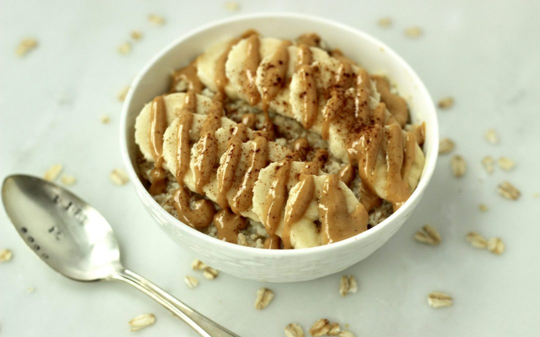 Egg White Banana Peanut Butter Oatmeal