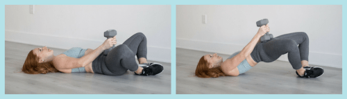 Frog pumps exercise to grow your glutes at home. Great warm up and glute activation exercise before a booty workout or a finisher to burn out the glutes