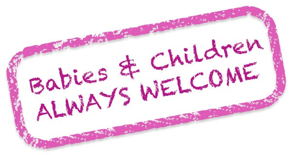 Babies, tots and children always welcome to our exercise classes