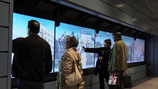 Digital Wall, El Paso City Museum, Texas, USA