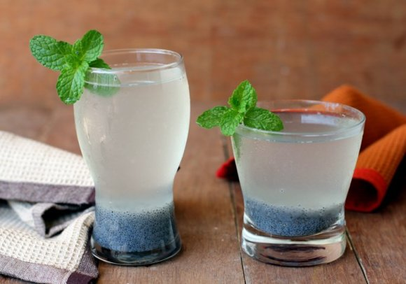 Summer drinks sweet basil sabza seeds lemonade