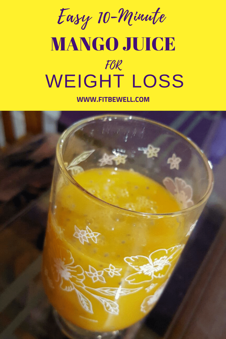 Easy 10-minute weight loss friendly mango juice