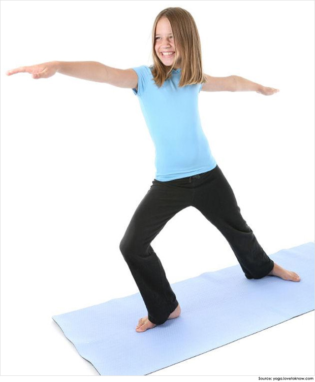 Warrior pose for kids