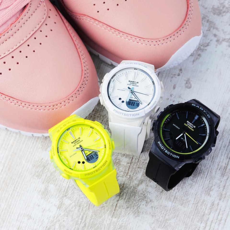 damski zegarek do biegania rekreacyjnego baby g bgs 100 7a1er