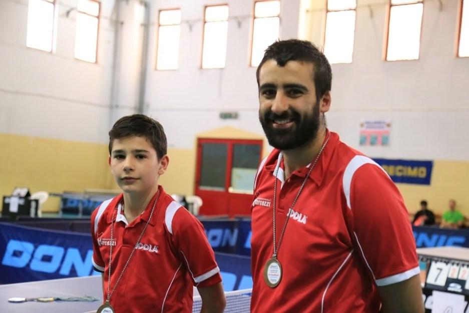 Carlo Rossi e il tecnico Stefano Curcio (Foto Tomaso Fenu)