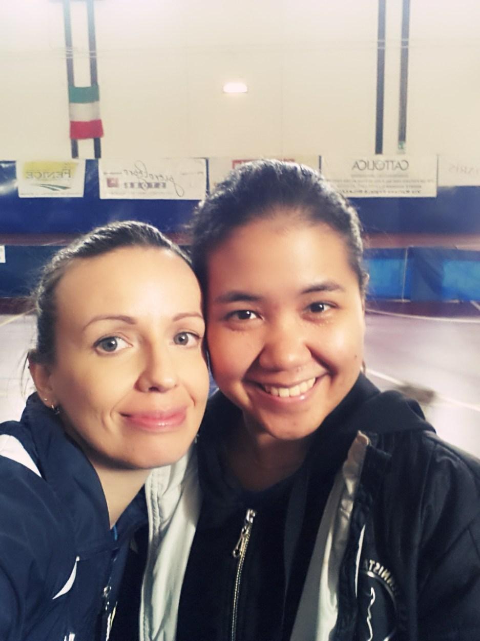 Marialucia Di Meo e Pam del Tennistavolo Norbello A2 femminile